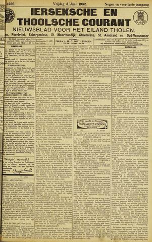Ierseksche en Thoolsche Courant 1932-06-03