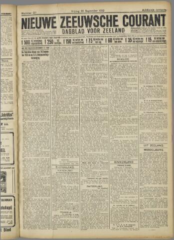 Nieuwe Zeeuwsche Courant 1922-09-22