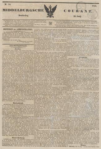 Middelburgsche Courant 1843-06-22