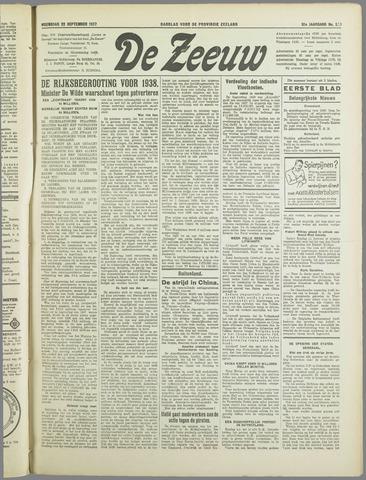 De Zeeuw. Christelijk-historisch nieuwsblad voor Zeeland 1937-09-22
