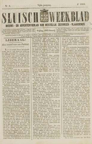 Sluisch Weekblad. Nieuws- en advertentieblad voor Westelijk Zeeuwsch-Vlaanderen 1864-02-19