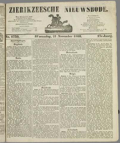 Zierikzeesche Nieuwsbode 1860-11-21