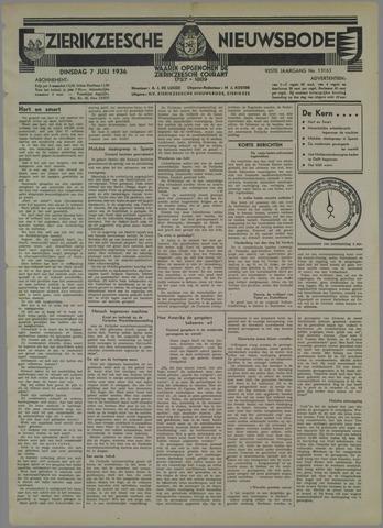 Zierikzeesche Nieuwsbode 1936-07-07