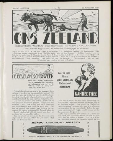 Ons Zeeland / Zeeuwsche editie 1927-08-20