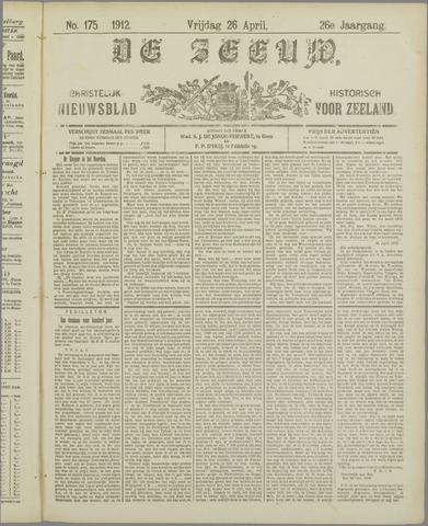 De Zeeuw. Christelijk-historisch nieuwsblad voor Zeeland 1912-04-26