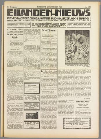 Eilanden-nieuws. Christelijk streekblad op gereformeerde grondslag 1940-11-02
