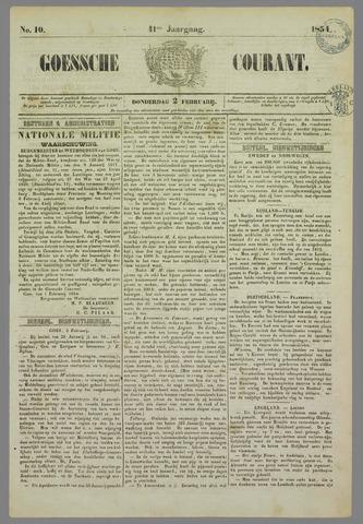 Goessche Courant 1854-02-02