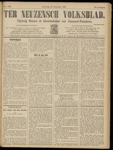 Ter Neuzensch Volksblad. Vrijzinnig nieuws- en advertentieblad voor Zeeuwsch- Vlaanderen / Zeeuwsch Nieuwsblad. Nieuws- en advertentieblad voor Zeeland 1911-11-25