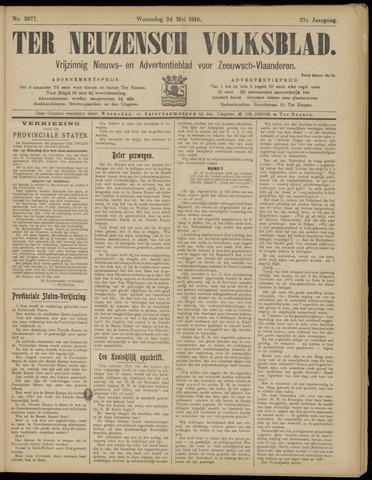Ter Neuzensch Volksblad. Vrijzinnig nieuws- en advertentieblad voor Zeeuwsch- Vlaanderen / Zeeuwsch Nieuwsblad. Nieuws- en advertentieblad voor Zeeland 1916-05-24