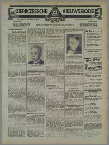 Zierikzeesche Nieuwsbode 1940-10-11