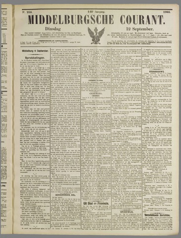 Middelburgsche Courant 1905-09-12
