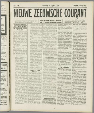 Nieuwe Zeeuwsche Courant 1911-04-22