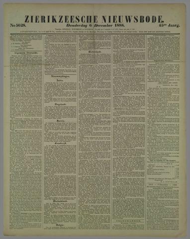 Zierikzeesche Nieuwsbode 1888-12-06