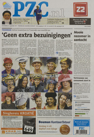 Provinciale Zeeuwse Courant 2011-09-21