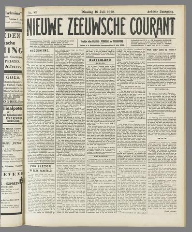 Nieuwe Zeeuwsche Courant 1912-07-16