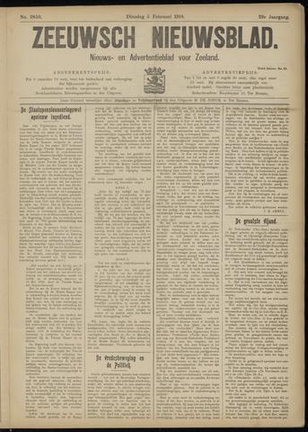Ter Neuzensch Volksblad. Vrijzinnig nieuws- en advertentieblad voor Zeeuwsch- Vlaanderen / Zeeuwsch Nieuwsblad. Nieuws- en advertentieblad voor Zeeland 1918-02-05