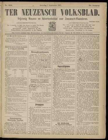 Ter Neuzensch Volksblad. Vrijzinnig nieuws- en advertentieblad voor Zeeuwsch- Vlaanderen / Zeeuwsch Nieuwsblad. Nieuws- en advertentieblad voor Zeeland 1917-09-01
