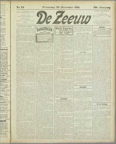 De Zeeuw. Christelijk-historisch nieuwsblad voor Zeeland 1921-12-28