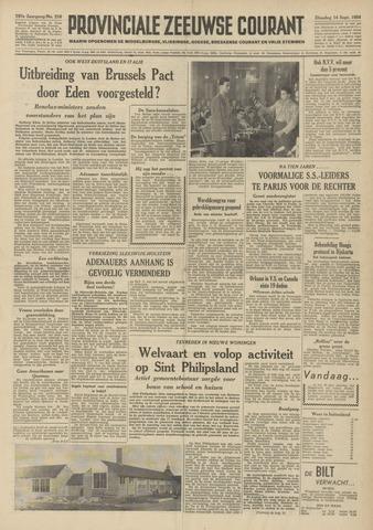 Provinciale Zeeuwse Courant 1954-09-14