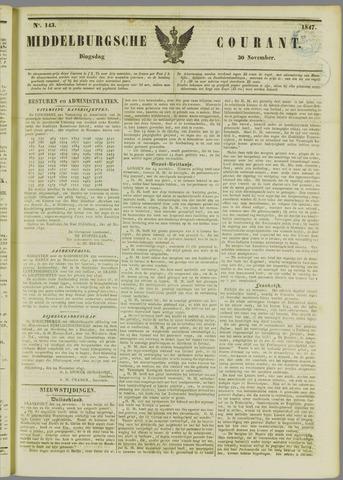 Middelburgsche Courant 1847-11-30