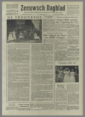 Zeeuwsch Dagblad 1958-09-17