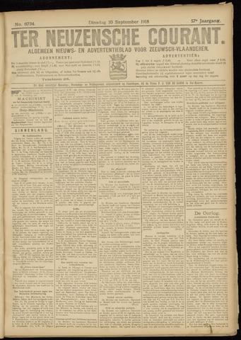 Ter Neuzensche Courant. Algemeen Nieuws- en Advertentieblad voor Zeeuwsch-Vlaanderen / Neuzensche Courant ... (idem) / (Algemeen) nieuws en advertentieblad voor Zeeuwsch-Vlaanderen 1918-09-10