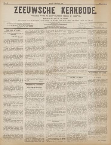 Zeeuwsche kerkbode, weekblad gewijd aan de belangen der gereformeerde kerken/ Zeeuwsch kerkblad 1936-10-09