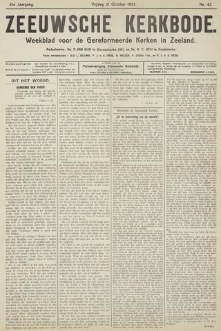 Zeeuwsche kerkbode, weekblad gewijd aan de belangen der gereformeerde kerken/ Zeeuwsch kerkblad 1927-10-21