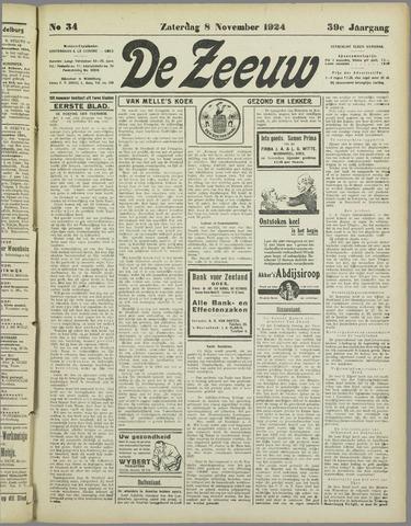 De Zeeuw. Christelijk-historisch nieuwsblad voor Zeeland 1924-11-08