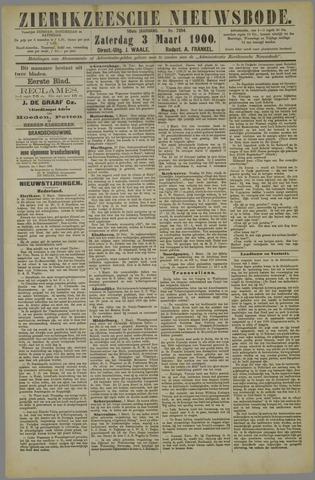 Zierikzeesche Nieuwsbode 1900-03-03