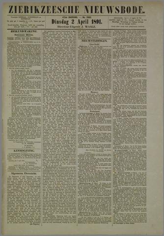 Zierikzeesche Nieuwsbode 1891-04-02