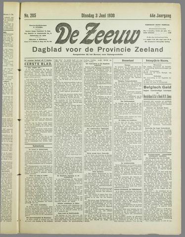 De Zeeuw. Christelijk-historisch nieuwsblad voor Zeeland 1930-06-03