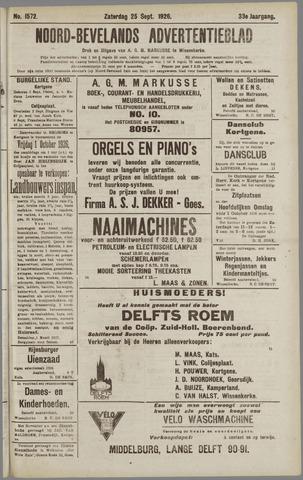 Noord-Bevelands Nieuws- en advertentieblad 1926-09-25
