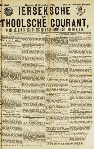 Ierseksche en Thoolsche Courant 1905-09-23