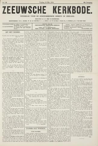 Zeeuwsche kerkbode, weekblad gewijd aan de belangen der gereformeerde kerken/ Zeeuwsch kerkblad 1934-05-18