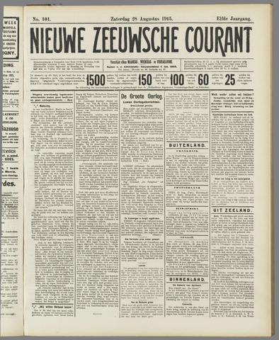 Nieuwe Zeeuwsche Courant 1915-08-28