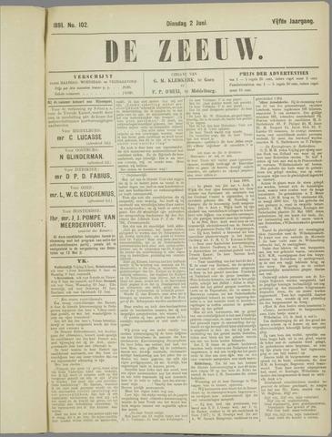 De Zeeuw. Christelijk-historisch nieuwsblad voor Zeeland 1891-06-02