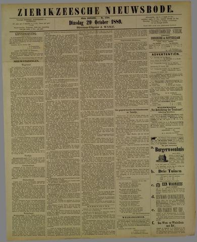 Zierikzeesche Nieuwsbode 1889-10-29