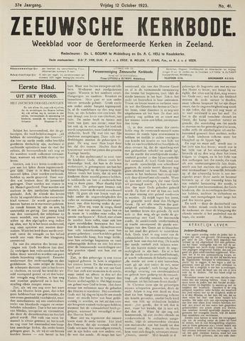 Zeeuwsche kerkbode, weekblad gewijd aan de belangen der gereformeerde kerken/ Zeeuwsch kerkblad 1923-10-12