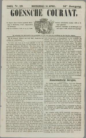 Goessche Courant 1864-04-14