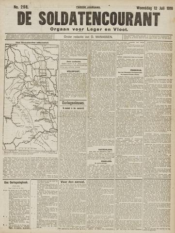 De Soldatencourant. Orgaan voor Leger en Vloot 1916-07-12