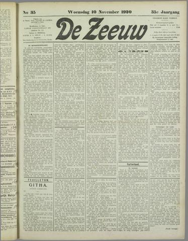 De Zeeuw. Christelijk-historisch nieuwsblad voor Zeeland 1920-11-10