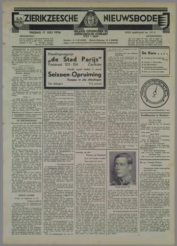Zierikzeesche Nieuwsbode 1936-07-17