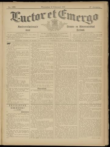 Luctor et Emergo. Antirevolutionair nieuws- en advertentieblad voor Zeeland / Zeeuwsch-Vlaanderen. Orgaan ter verspreiding van de christelijke beginselen in Zeeuwsch-Vlaanderen 1917-02-14