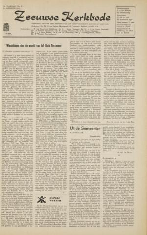 Zeeuwsche kerkbode, weekblad gewijd aan de belangen der gereformeerde kerken/ Zeeuwsch kerkblad 1963-08-23