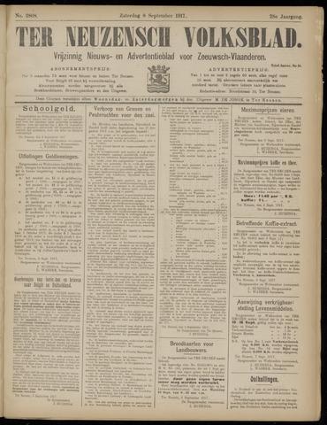 Ter Neuzensch Volksblad. Vrijzinnig nieuws- en advertentieblad voor Zeeuwsch- Vlaanderen / Zeeuwsch Nieuwsblad. Nieuws- en advertentieblad voor Zeeland 1917-09-08