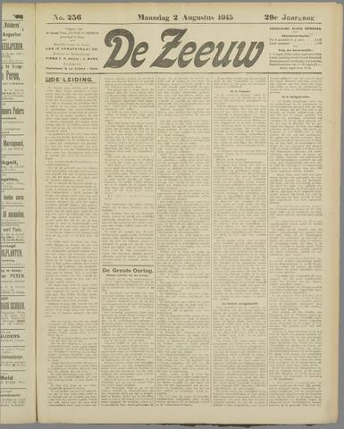 De Zeeuw. Christelijk-historisch nieuwsblad voor Zeeland 1915-08-02