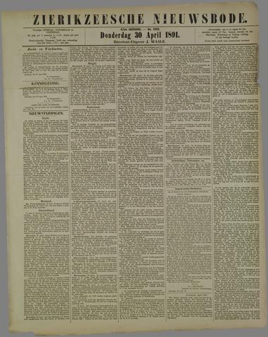 Zierikzeesche Nieuwsbode 1891-04-30