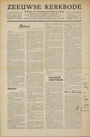 Zeeuwsche kerkbode, weekblad gewijd aan de belangen der gereformeerde kerken/ Zeeuwsch kerkblad 1955-12-02