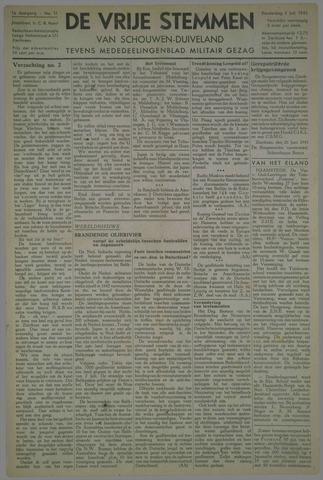 Vrije Stemmen van Schouwen-Duiveland, tevens mededeelingenblad Militair Gezag 1945-07-05
